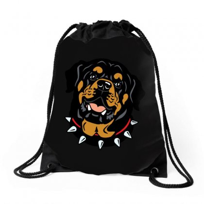 Rottweiler (dog) Drawstring Bags Designed By Tiococacola