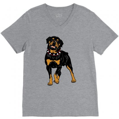 Rottweiler Protection (dog) V-neck Tee Designed By Tiococacola