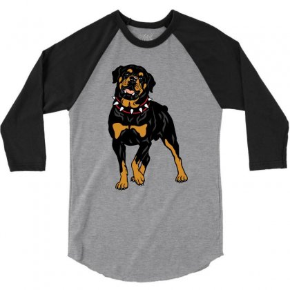 Rottweiler Protection (dog) 3/4 Sleeve Shirt Designed By Tiococacola