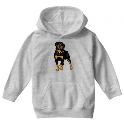 Rottweiler Protection (dog) Youth Hoodie Designed By Tiococacola