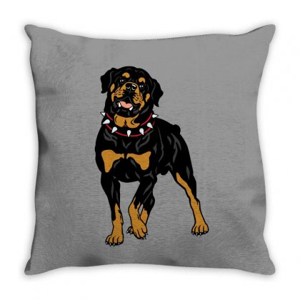 Rottweiler Protection (dog) Throw Pillow Designed By Tiococacola