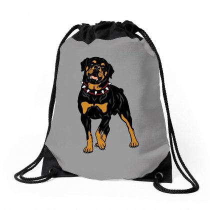 Rottweiler Protection (dog) Drawstring Bags Designed By Tiococacola