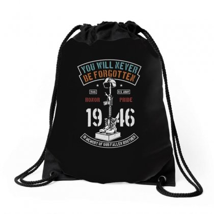 You Will Never Be Forgotten Drawstring Bags Designed By Blqs Apparel