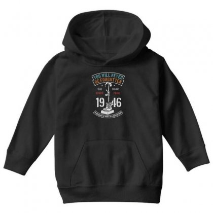 You Will Never Be Forgotten Youth Hoodie Designed By Blqs Apparel