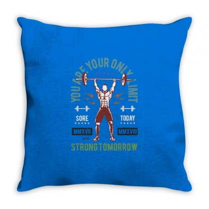 You Are Your Only Limit Throw Pillow Designed By Blqs Apparel