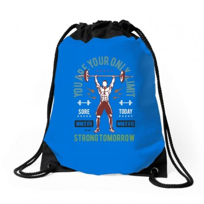 You Are Your Only Limit Drawstring Bags Designed By Blqs Apparel