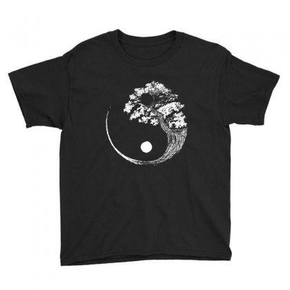 Yin Yang Tree Youth Tee Designed By Blqs Apparel