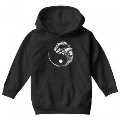 Yin Yang Tree Youth Hoodie Designed By Blqs Apparel