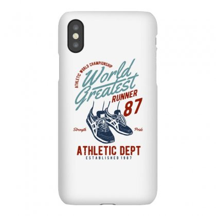 World Greatest Runner Iphonex Case Designed By Blqs Apparel