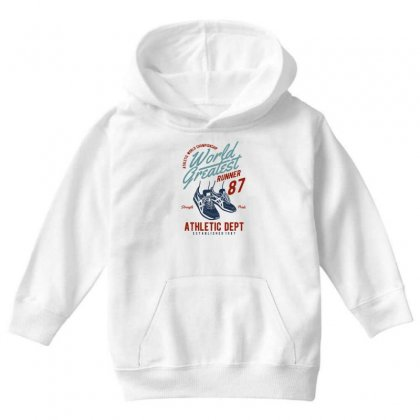 World Greatest Runner Youth Hoodie Designed By Blqs Apparel