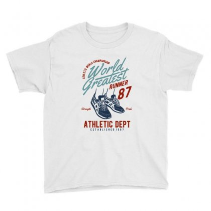 World Greatest Runner Youth Tee Designed By Blqs Apparel