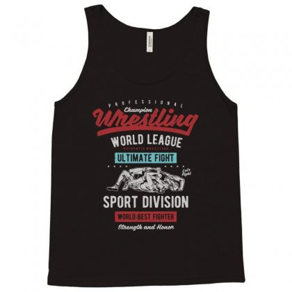 Wrestling Tank Top Designed By Blqs Apparel