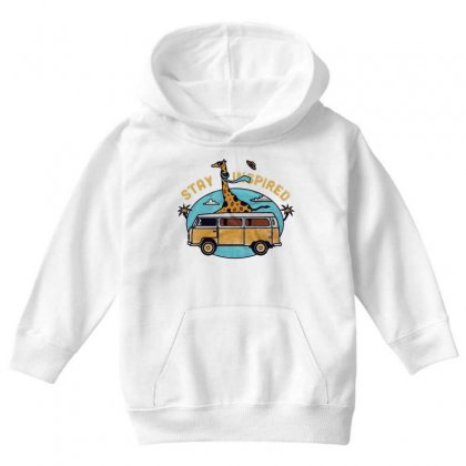 Stay Inspired Youth Hoodie Designed By Blqs Apparel