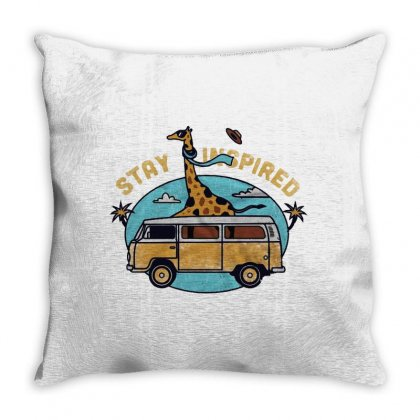 Stay Inspired Throw Pillow Designed By Blqs Apparel