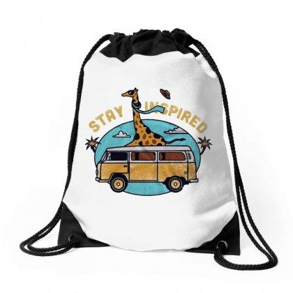 Stay Inspired Drawstring Bags Designed By Blqs Apparel