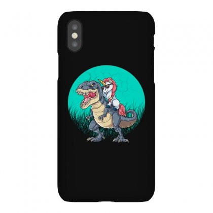 Unicorn Riding Dinosaur Iphonex Case Designed By Blqs Apparel