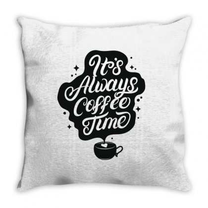 It's Always Coffee Time. Throw Pillow Designed By Tiococacola