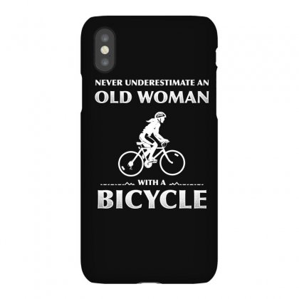 Never Underestimate An Old Woman With A Bicycle T Shirt Iphonex Case Designed By Hung