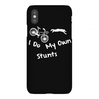 I Do My Own Stunts Mountain Bike Shirt   Funny T Shirt Iphonex Case Designed By Hung