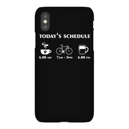 Funny Cycling Shirt Today S Schedule T Shirt Bicycle Shirt Iphonex Case Designed By Hung