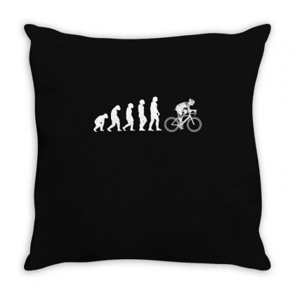 Evolution To Biking Bicycle Biker Cycling T Shirt Gift Tee For Bikers Throw Pillow Designed By Hung