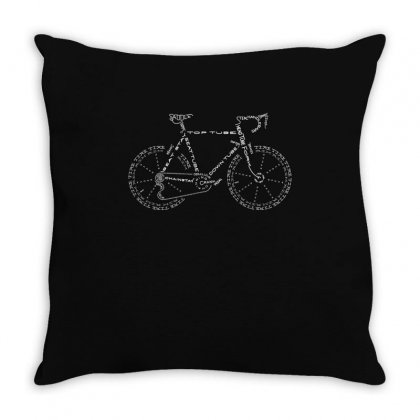 Bike Anatomy T Shirt Funny Bicycle Riding Shirt Throw Pillow Designed By Hung