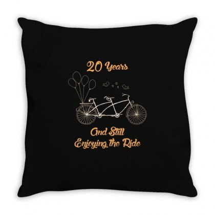 20th Wedding Anniversary T Shirt 20 Years Together Bicycle T Shirt Throw Pillow Designed By Hung