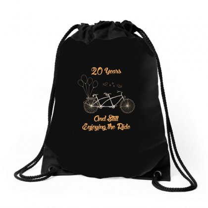 20th Wedding Anniversary T Shirt 20 Years Together Bicycle T Shirt Drawstring Bags Designed By Hung