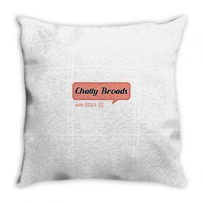 Chatty Broads With Bekah And Jess Throw Pillow Designed By Nurbetulk