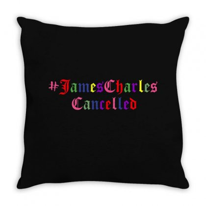 James Charles Cancelled Throw Pillow Designed By Sengul