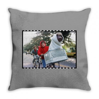 Bicycle Ride E.t Throw Pillow Designed By Sengul