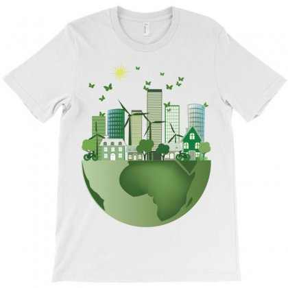 Vector Energy Saving Caring For The Earth T-shirt Designed By Salmanaz