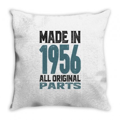 Made In 1956 All Original Parts Throw Pillow Designed By Cidolopez
