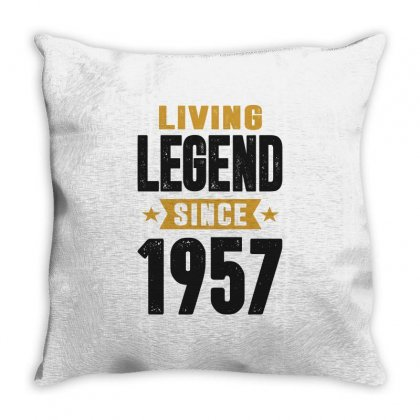 Living Legend Since 1957 Throw Pillow Designed By Cidolopez