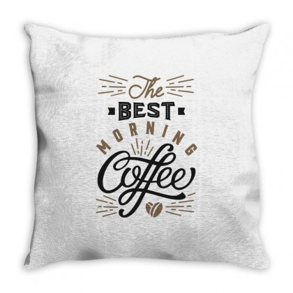 The Best Morning Coffee Throw Pillow Designed By Cidolopez