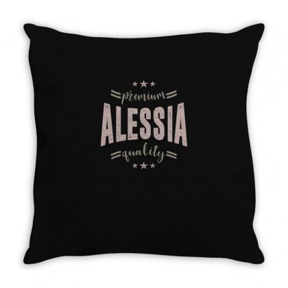 Is Your Name, Alessia. This Shirt Is For You! Throw Pillow Designed By Chris Ceconello