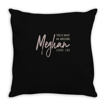 Is Your Name, Meghan? This Shirt Is For You! Throw Pillow Designed By Chris Ceconello