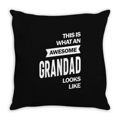Awesome Grandad Throw Pillow Designed By Cidolopez