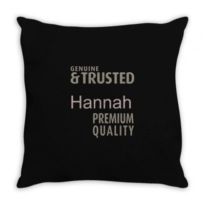 Is Your Name, Hanna ? This Shirt Is For You! Throw Pillow Designed By Chris Ceconello