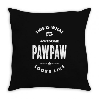 Awesome Pawpaw Looks Like Throw Pillow Designed By Cidolopez