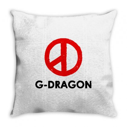 G Dragon   Red Peace Sign Throw Pillow Designed By Blqs Apparel