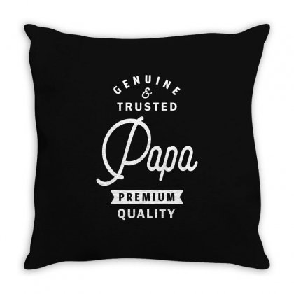 Papa Genuine And Trusted Throw Pillow Designed By Cidolopez