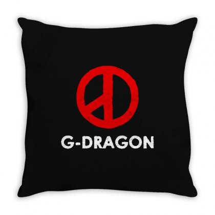 G Dragon   Cool Peace Sign Throw Pillow Designed By Blqs Apparel