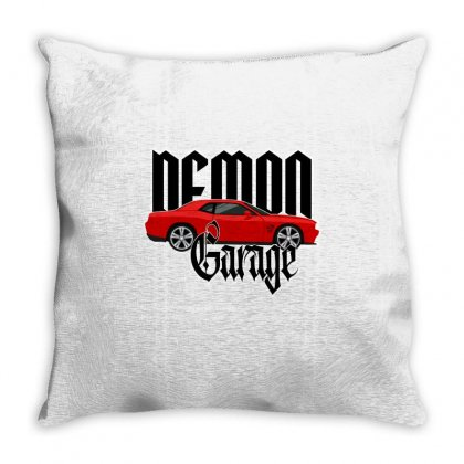 Demon Garage Throw Pillow Designed By Tiococacola