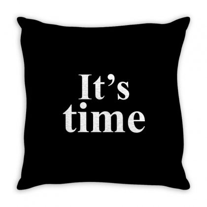 It's Time White Throw Pillow Designed By Banjarstore