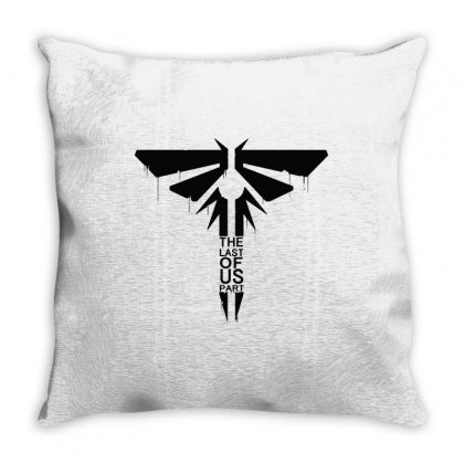 The Last Of Us (black) Throw Pillow Designed By Blqs Apparel