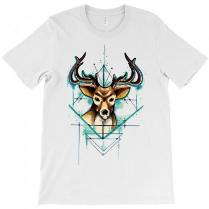 Deer Tattoo Drawing Vector Watercolor T-shirt Designed By Salmanaz