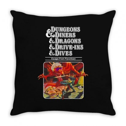 Dungeons &  Dragons Escape From Flavortown Throw Pillow Designed By Blqs Apparel