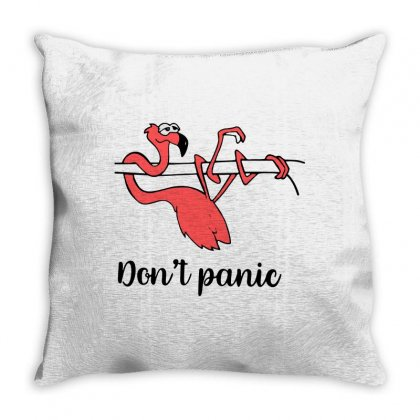 Don't Panic Throw Pillow Designed By Blqs Apparel