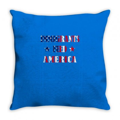Immigrants Feed America Throw Pillow Designed By Vanitty